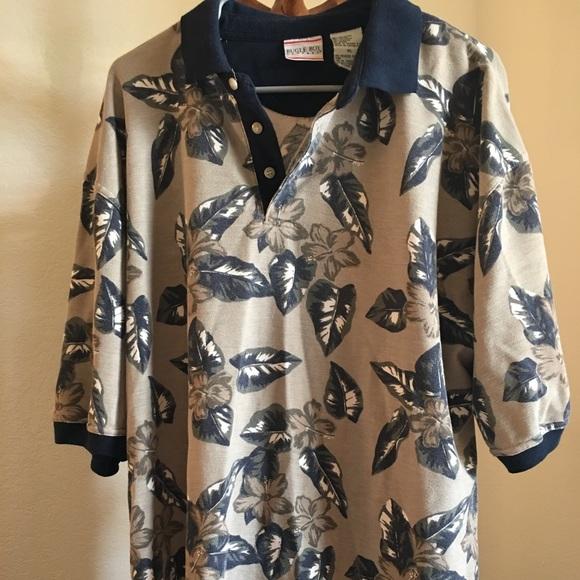 a60f4106d bugle boy Shirts   Company Xlarge Polo Flower And Plants   Poshmark